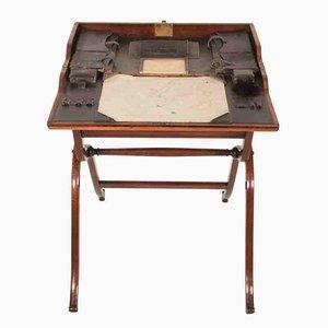 Klappbarer Militärkampagnen-Schreibtisch aus Palisander, 1850er