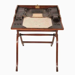 Military Campaign Fold Away Rosewood Desk, 1850s