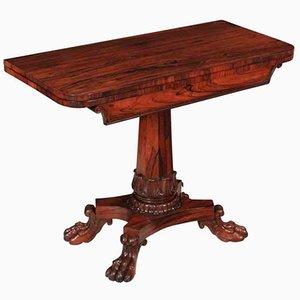 Antique William IV Rosewood Tea Table