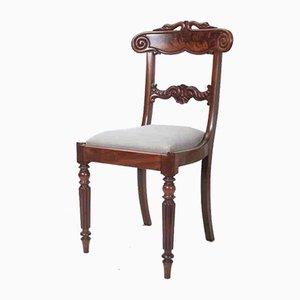 Antike Esszimmerstühle aus Mahagoni mit Rückenlehnen, 10er Set