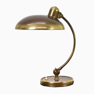 German Brass President Desk Lamp by Christian Dell for Kaiser Idell, 1930s