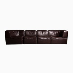 DS 15 Neck Leather Modular Sofa from de Sede, 1970s