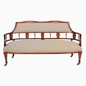 Antique Marquetry Inlaid Rosewood Sofa