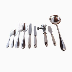 Vintage Silver Cutlery, 1940s, Set of 69