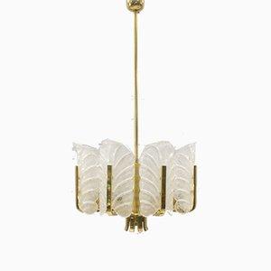 Lámpara de araña de 8 luces de Carl Fagerlund para Orrefors, años 60