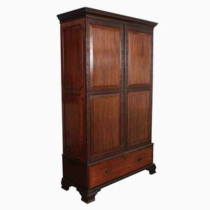 Chippendale Mahogany Wardrobe from Druce & Co., 1900s