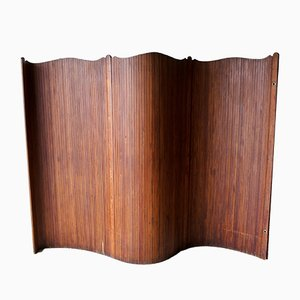 French Art Deco Style Tambour Screen Room Divider, 1940s