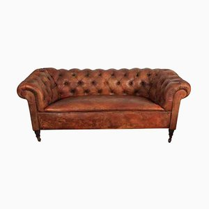 Victorian Leather Chesterfield Style Sofa