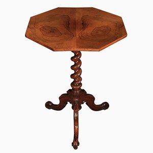 Oktogonaler Vintage Weintisch aus Palisander