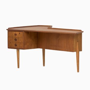 Großer dänischer Boomerang Schreibtisch, 1960er