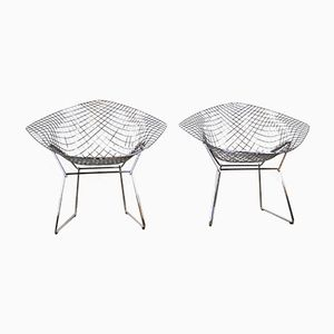 Chaises d'Appoint par Harry Bertoia pour Knoll International, 1950s, Set de 2