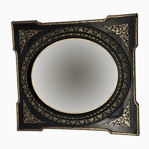 Espejo francés estilo Napoleon III en negro y dorado