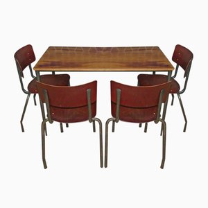 Essgruppe im industriellen Stil, 1960er, 5er Set