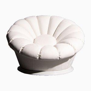 Weißer Italienischer Sessel, 1960er