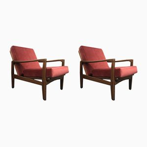 Mid-Century Afromosia Easy Chairs from Toothill, Set of 2
