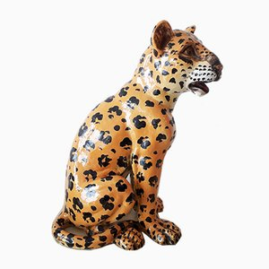 Large Ceramic Leopard from Meiselman, 1970s