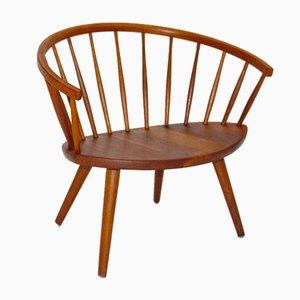 Oak Armchair by Yngve Ekström, 1950s