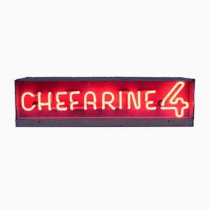 Insegna pubblicitaria al neon di Chefarine 4, anni '50