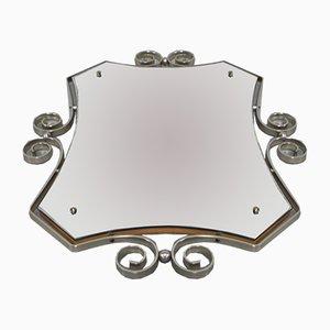 Espejo vintage con marco de aluminio facetado