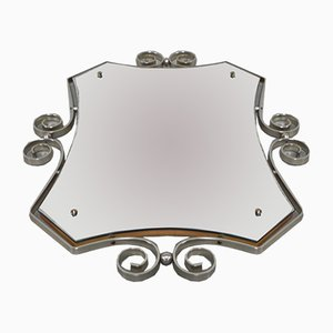 Vintage Spiegel mit facettiertem Metallrahmen