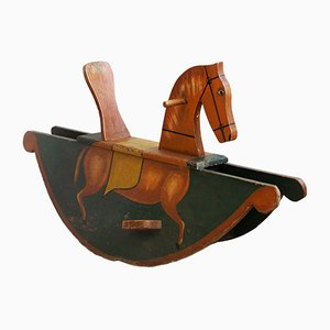 Hand-Painted Biedermeier Rocking Horse, 1840s