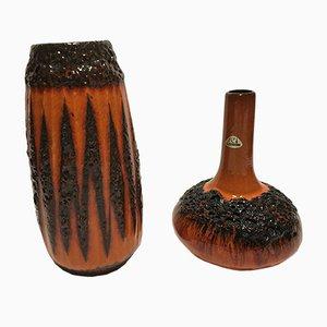 Vases Fat Lava de Rera Keramik, 1970s, Set de 2