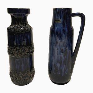 Vases Vintage de Scheurich, 1970s, Set de 2
