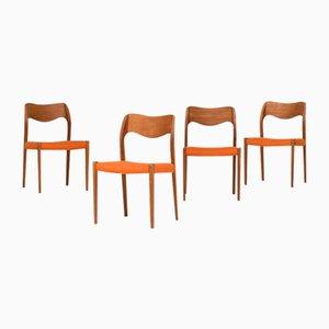Esszimmerstühle von Niels Otto Moller für J.L. Moller, 1951, 4er Set