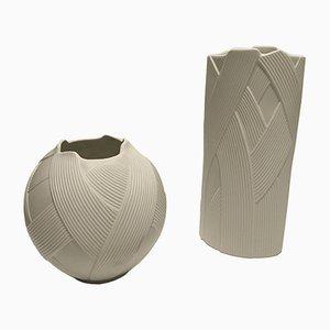 Vasen aus Biskuitporzellan von M. Frey für Kaiser Porzellan, 1970er, 2er Set