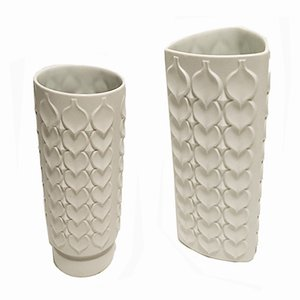 Bisque Porcelain Vases from Kaiser Porzellan, 1970s, Set of 2