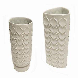 Vasi in porcellana Bisque di Kaiser Porzellan, anni '70, set di 2