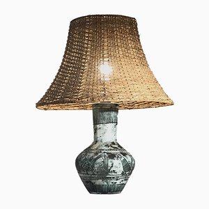 Lampada da tavolo vintage scultorea in ceramica di Jacques Blin, anni '50