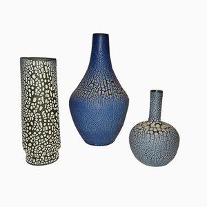 Vasi vintage in ceramica di Albert Kiessling Langenhessen, anni '50, set di 3