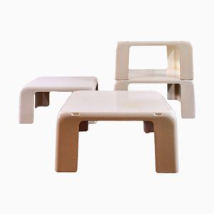 Stapelbare I Gatti Tische von Mario Bellini, 1976, 4er Set