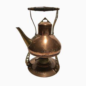 Antike Teekanne mit Heizplatte von Harjes & Kallmeyer Gotha