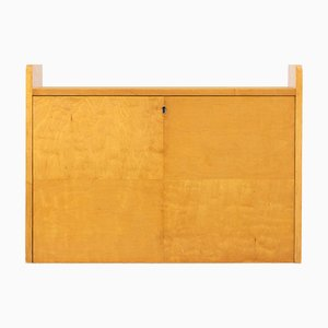 Swedish Birch Wall Desk from Svenska Mobelfrabriken, 1940s