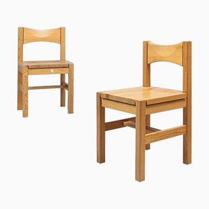Finnish Pine Chairs by Ilmari Tapiovaara for Laukaan Puu Oy, 1960s, Set of 2