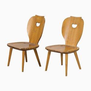Schwedische Stühle aus Pinienholz von Carl Malmsten für Svensk Fur, 1953, 2er Set