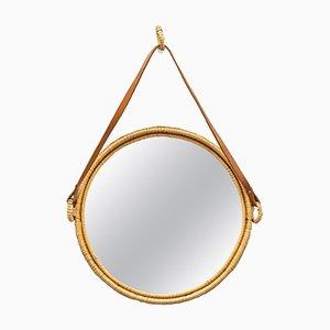 Swedish Rattan Mirror, 1960s