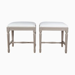 19th-Century Swedish Gustavian Foot Stools, Set of 2