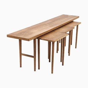 Tavolini in quercia di Kurt Østervig, Danimarca, anni '50