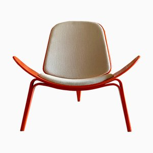 Mid-Century CH07 Shell Chair by Hans J. Wegner Carl Hansen for Carl Hansen & Søn, 1970s