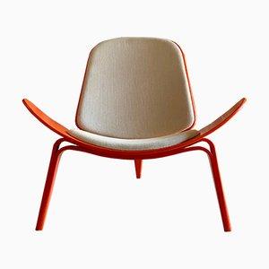 Mid-Century CH07 Shell Chair von Hans J. Wegner & Carl Hansen für Carl Hansen & Søn, 1970er