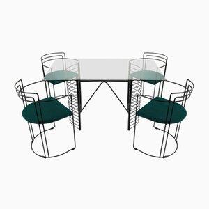 Set da pranzo Mid-Century minimalista moderno, anni '70
