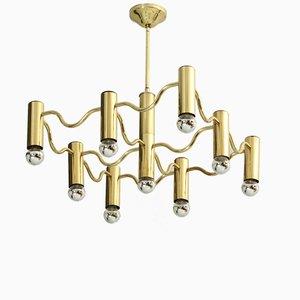 Lámpara de araña de Sciolari, años 70