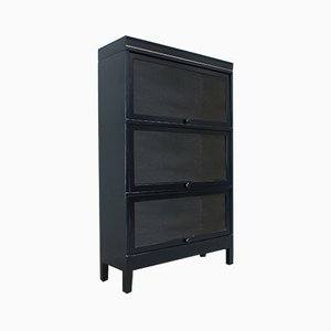 Vintage English Black Bookcase, 1940s