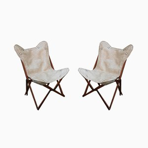 Vintage Italian Tripoline Chairs, 1950s, Set of 2