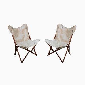 Vintage Italian Tripoline Chairs, 1950s, Set of 2