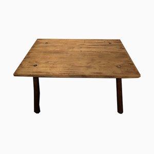 Mesa rústica de madera, años 60