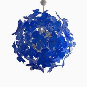 Lámpara de araña Sputnik Mid-Century de cristal de Murano, años 70